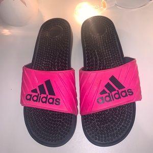 Pink Adidas Slides